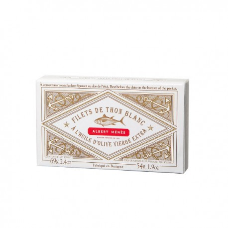 Filets de Thon Blanc Germon à l'Huile d'Olive Vierge Extra 69g
