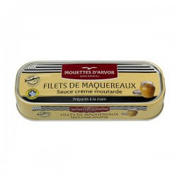 Makreelfilets in mosterd crème saus 169g