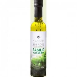 Olijfolie met verse Basilicum 25cl