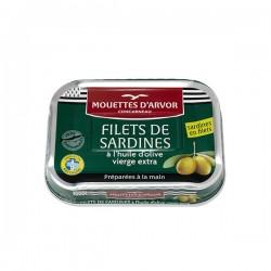 Filets de sardines à l'huile d'olive 100g