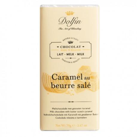 Melk Chocolade Caramel gezouten boter 70g