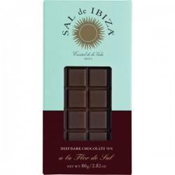 Fleur de Sel Zwarte BIO chocolade 80g