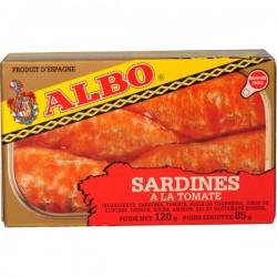 Sardines à la tomate 120g