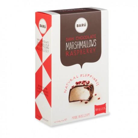 Donkere chocolade & framboos marshmallow 120g