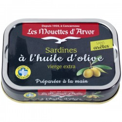 Sardines Huile d'Olive sans arêtes 115g