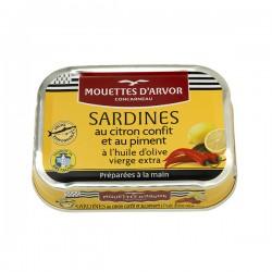Sardines Citron Confit & Piment & Huile d'olive 115g