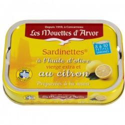 Sardinettes Citron Huile d'olive 100g