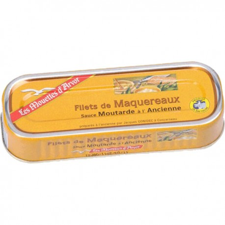 Makreelfilets mosterdsa. oude wijze 169g