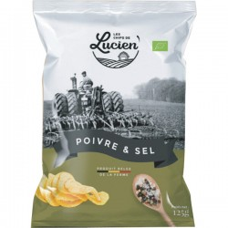 Belgische chips peper & zout 125g