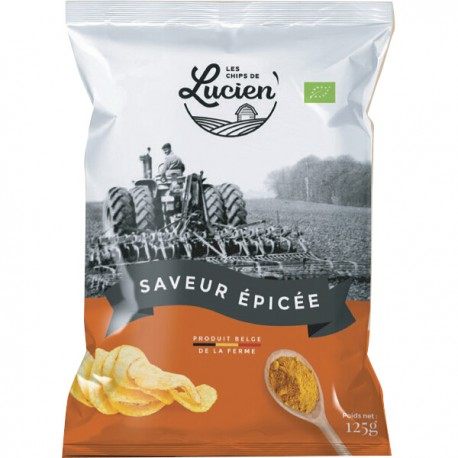 Belgische chips gekruide smaken 125g