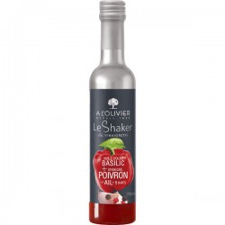 Shaker HO Basilic & Vinaigre Poivrons rouge & Ail & 5 Baies 20cl