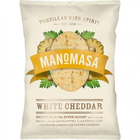 Tortilla chips witte cheddarkaas (ovaal) (glutenvrij) 160g