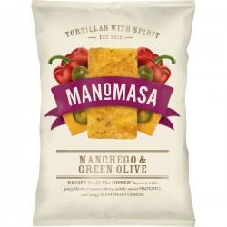 Tortilla chips Manchego kaas & groene olijf (rechthoek) (glutenvrij) 160g