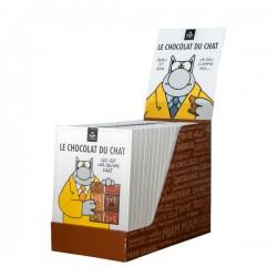 BIO & Fairtrade melkchocolade vierkantjes LE CHAT 160g