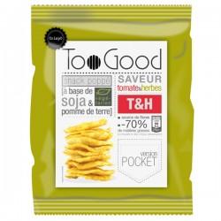 Gepopte chips met Tomate & Kruiden (glutenvrij-vegan) 25g