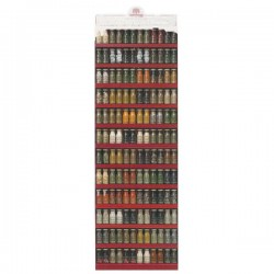 P.O.S. Présentoir Eclairé complet Ménès 73.5x26x220 (70 épices)