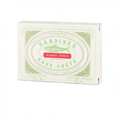 Sardienen zonder graat met extra zuivere olijfolie 115g
