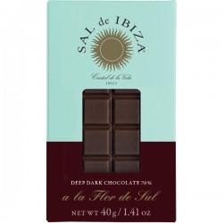 Fleur de Sel Zwarte BIO chocolade 40g