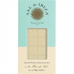 Chocolat BIO blanc crémeux à la fleur de sel 80g