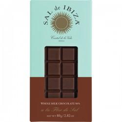 Chocolat BIO au lait entier à la fleur de sel 80g