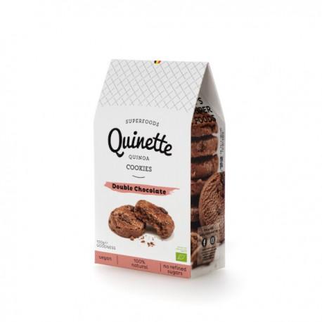 Quinoa Cookies Double Chocolate BIO (glutenvrij-vegan) 100g