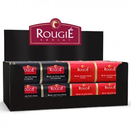 Mini display 12x foie gras d'oie 145g & 12x foie gras de canard 145g