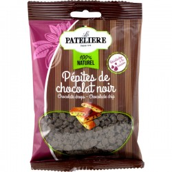 Zwarte chocolade drops 100g
