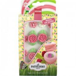 Suikerfiguren rozen met bladjes