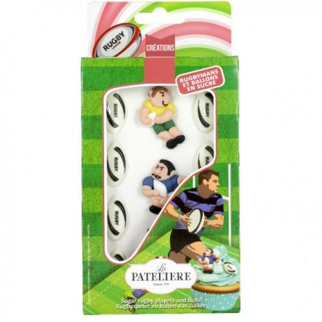 Suikerfiguren rugby spelers
