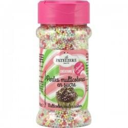 Veelkleurige suiker parels met natuurlijke kleurstoffen 80 g