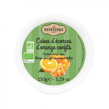 Blokjesgekonfijte sinaasappelschil BIO 150g