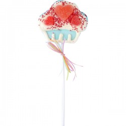 Muffin Marshmallow pop blauw 35g