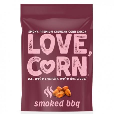Krokante mais snack met gerookte BBQ 115g