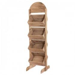 P.O.S. Presentatiemeubel 4 houten manden