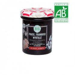 BIO Extra Aardbeien-, Frambozen- en Bosbessenjam 230g